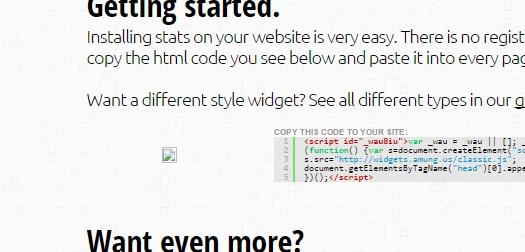 Tampilan widget di situs resmi Whos Amung Us pada 6 April 2015.